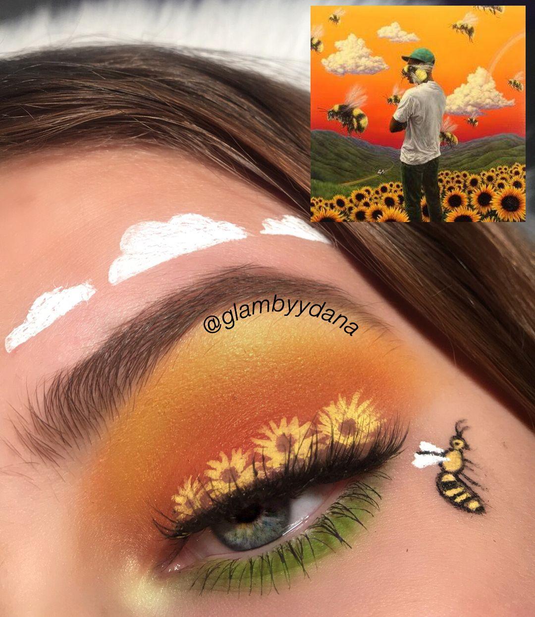 FLOWER BOY inspired makeup look this album cover is sooooo