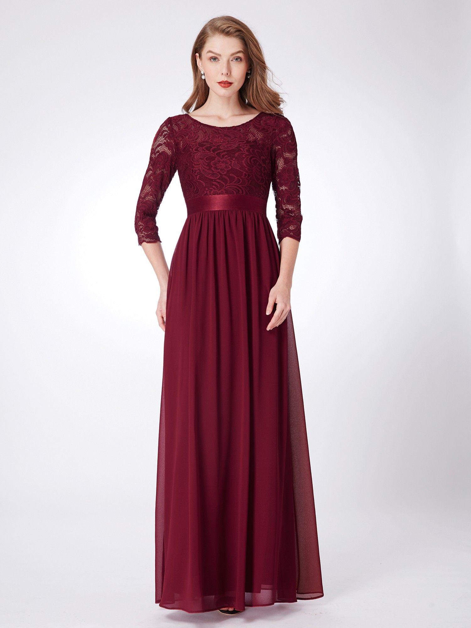 Lace long sleeve floor length dress band formal pinterest