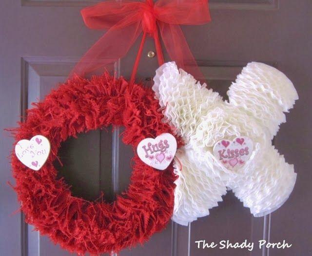 How To Make the Hugs & Kisses...xoxo Valentine Door Decoration