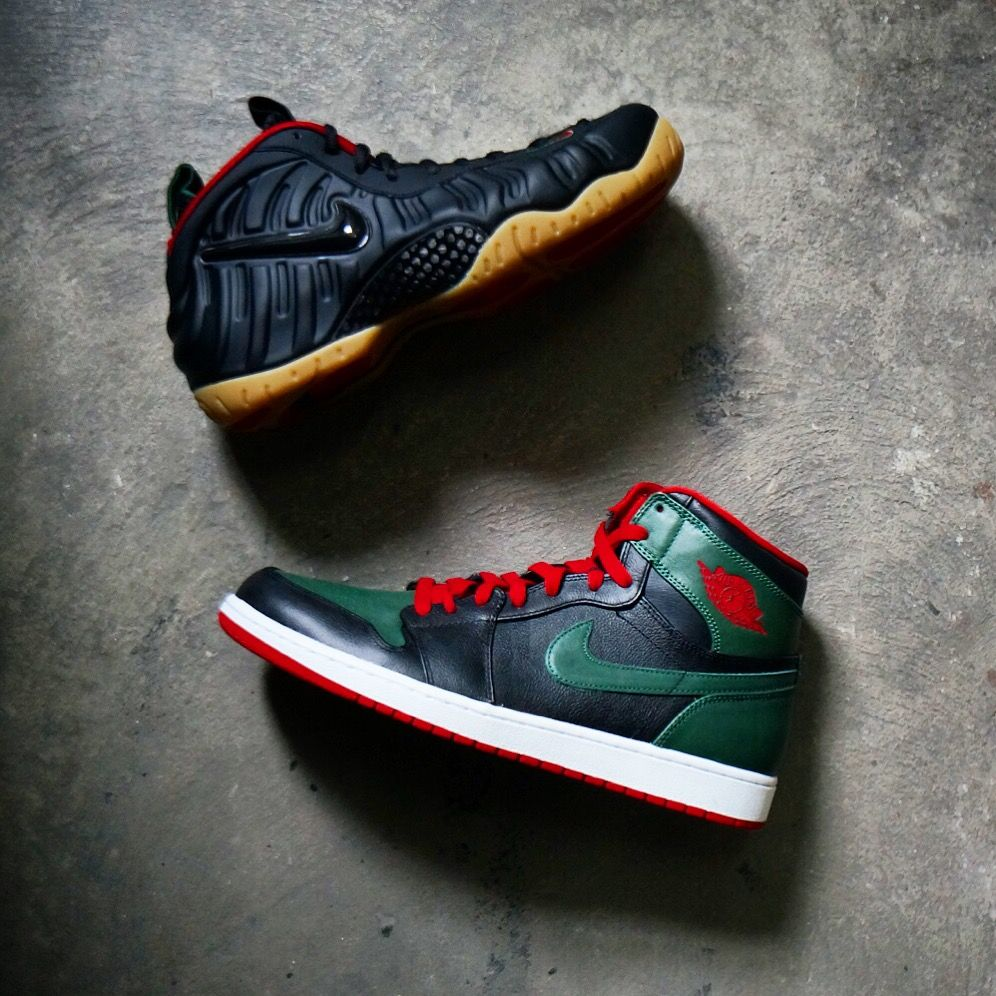 GUCCI Nike Foamposite Air Jordan 1 Both Are Available At Kicks