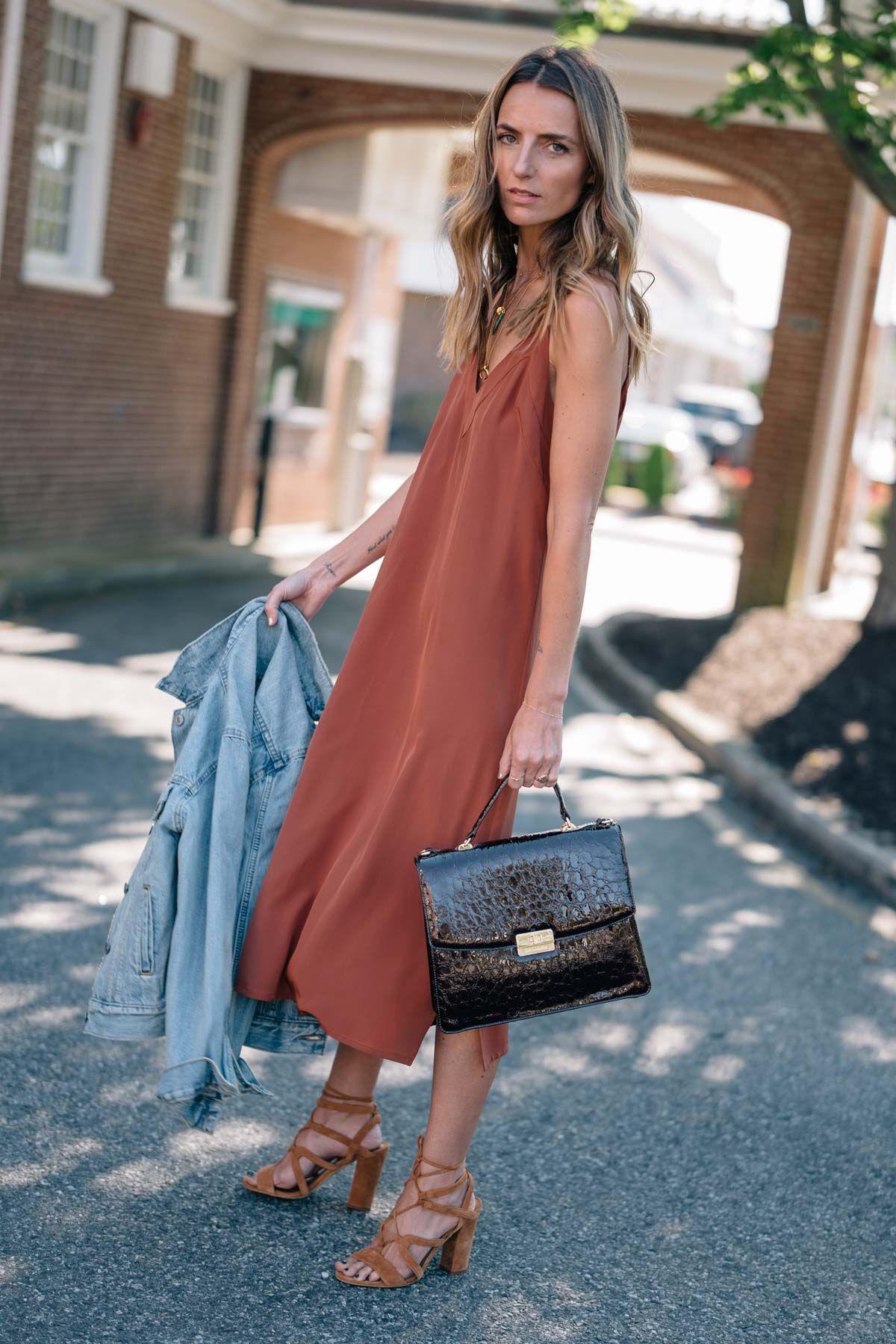 ad2cb1aa37 Cuyana silk slip dress  fall fashion to wear now