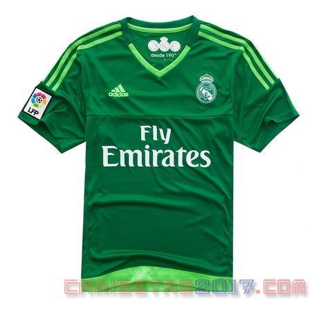 3e8f4b0acdca5 Camiseta portero Real Madrid 2015 2016 segunda