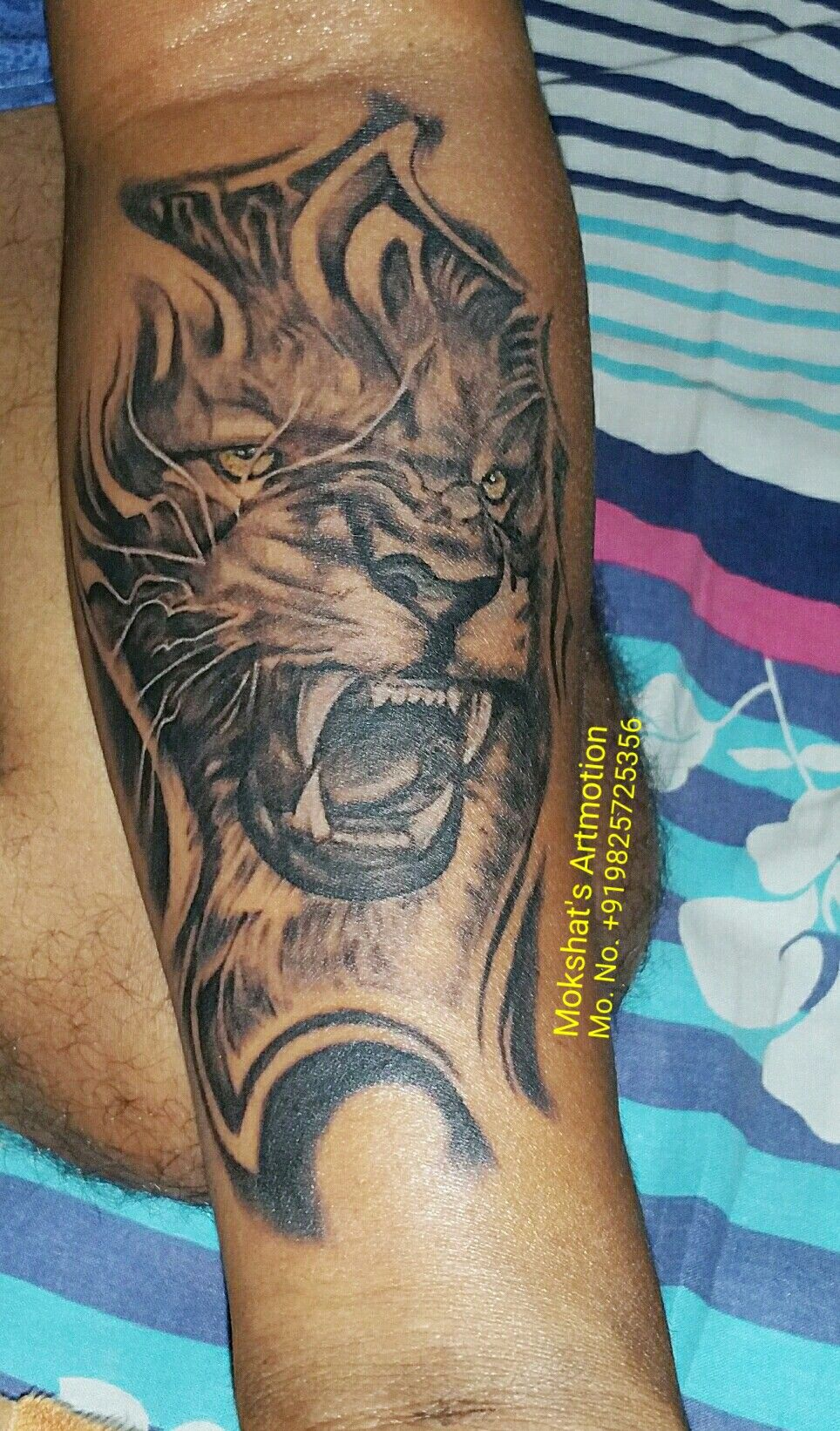 Lion tattoo done by Mokshat's Artmotion # mokshat tattoo#3d lion ...