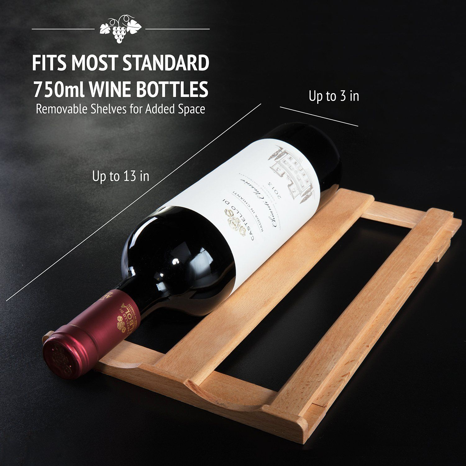 Ivation Premium Stainless Steel 8 Bottle Thermoelectric Wine Cooler Chiller Counter Top Red An Thermoelectric Wine Cooler Stainless Steel Wine Rack Wine Cooler