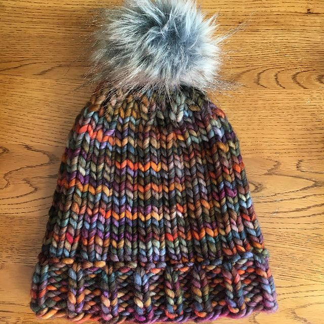 Big Chunky Comfy Hat by Erica Kempf Broughton, knitted by ...