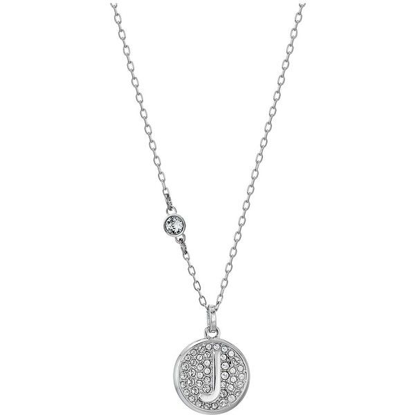 47fc0bffd5ee8 Swarovski Letter Pendant Necklace (White-J) Necklace ($69) ❤ liked ...