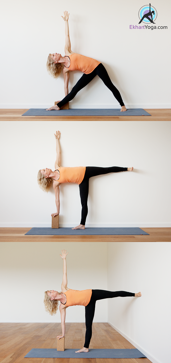 The Half Moon Pose turns out to be tricky for many of us ...