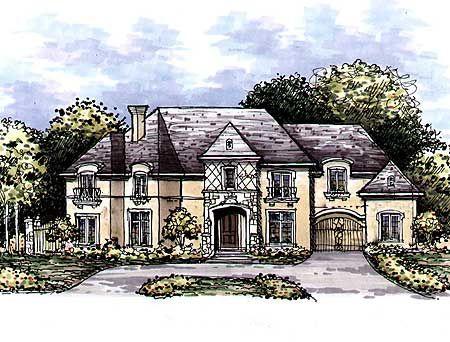 Plan 15309hn european manor home plan luxury houses for European manor house plans
