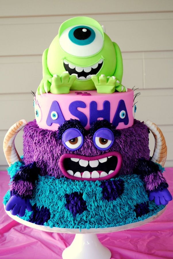 Monsters Inc Monstros University Cake Bolos De Aniversrio