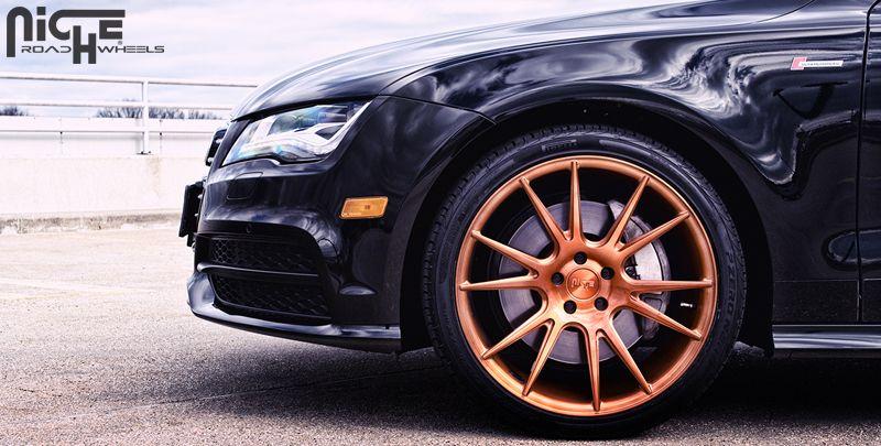 Audi a7 vicenza t72 brushed w monaco copper tint 20x9