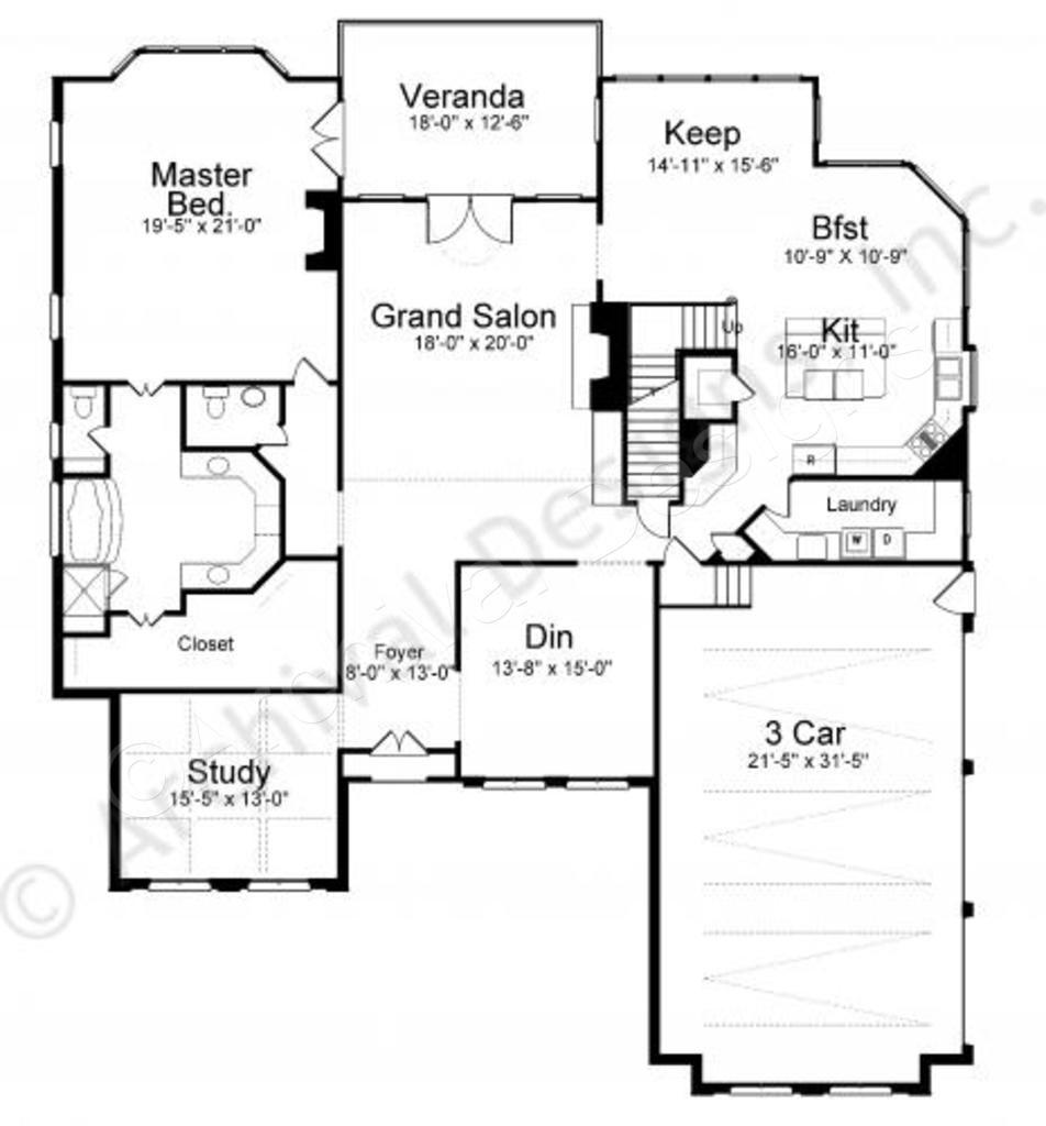 Westdrake Place House Plan House plans, Modern floor