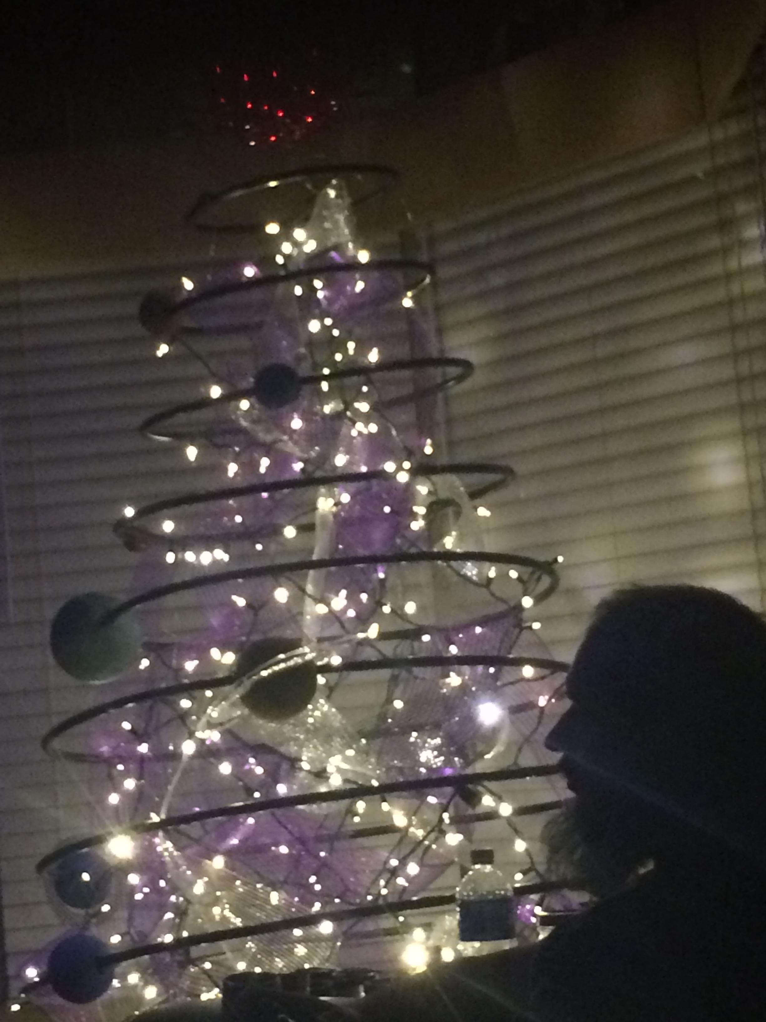 I made a solar system Christmas tree!   Christmas tree themes, Xmas theme, Silver tinsel christmas tree