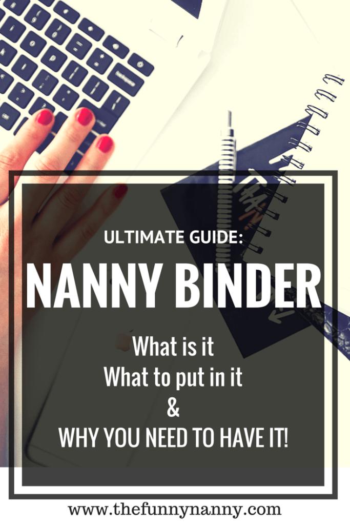 ultimate guide nanny portfolio the kiddos pinterest nanny binder childcare and binder. Black Bedroom Furniture Sets. Home Design Ideas