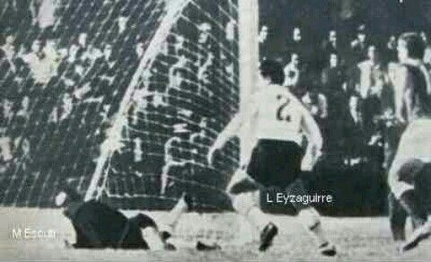 Chile 2 USSR 1 in 1962 in Arica. Igor Chislenko nips in to make it 1-1 on 26 minutes in the World Cup Quarter Final.