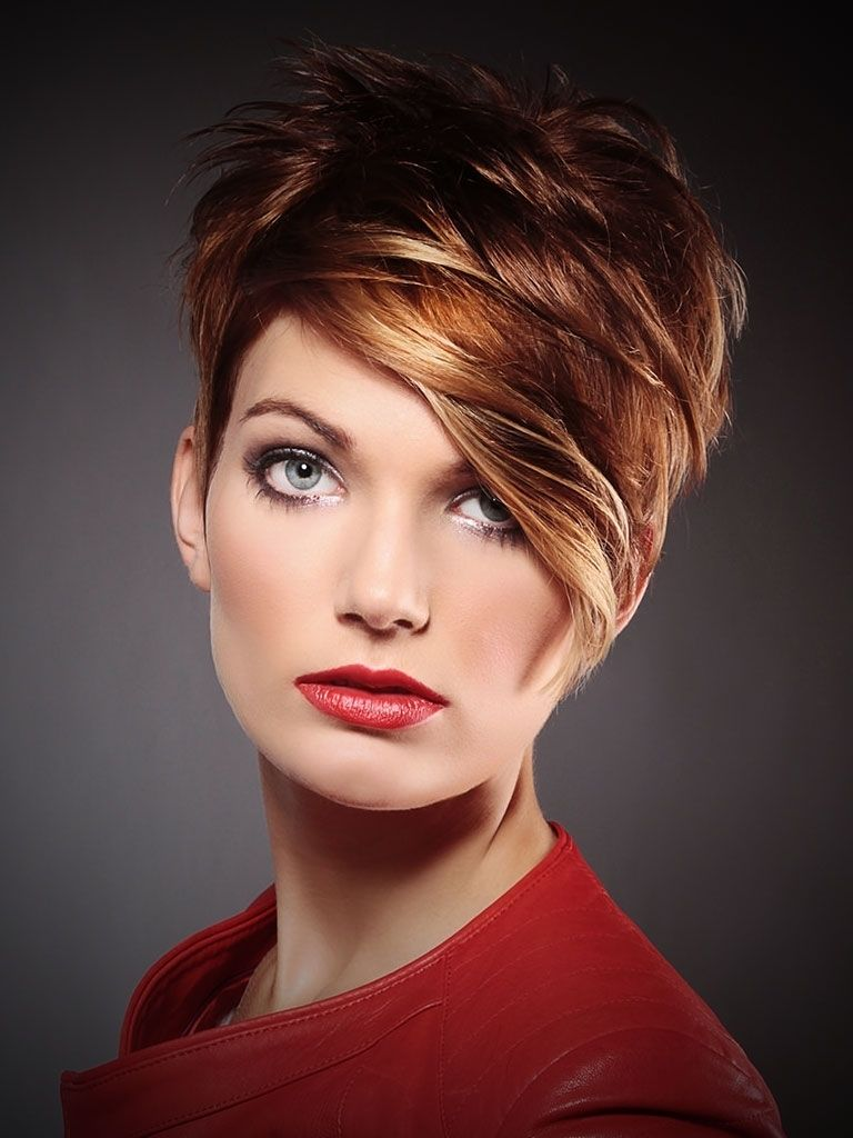2019 Short Hairstyles Light Brown Hair Red And Blonde