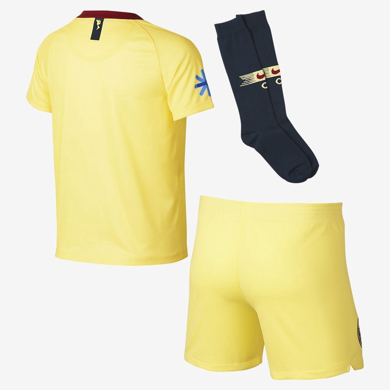 914e18182fa Nike 2018 19 Club America Stadium Home Big Kids  Soccer Kit - M (10-12) Navy