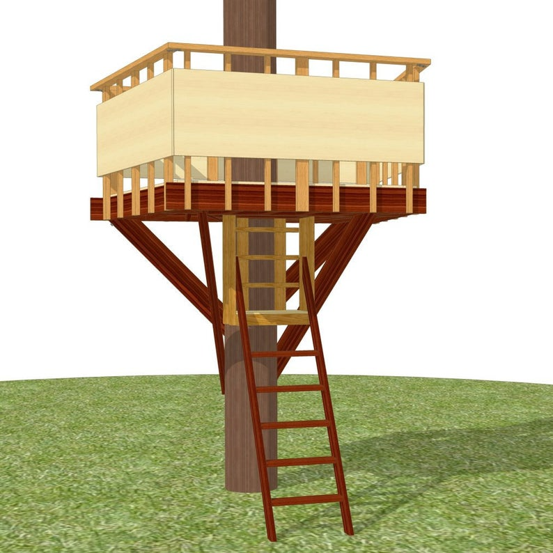 Outpost tree fort plans for one tree