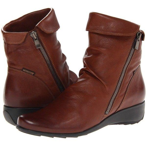 Mephisto Seddy (Hazelnut Texas) Women's Boots (120 KWD) ❤ liked on Polyvore