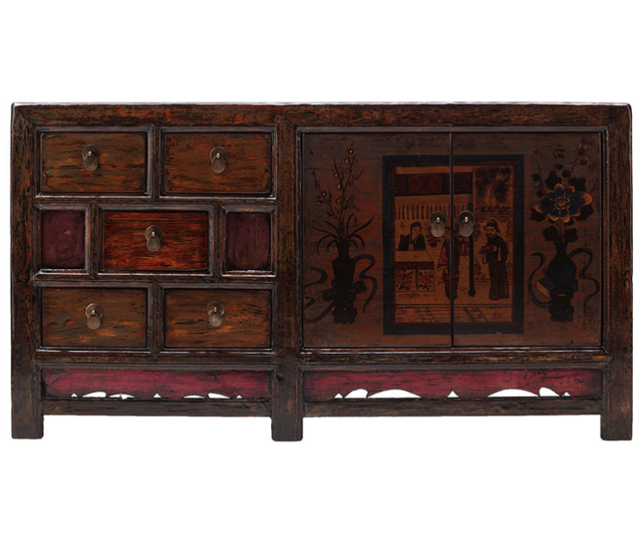 Painted Chinese Storage Cabinet Chinesefurniture