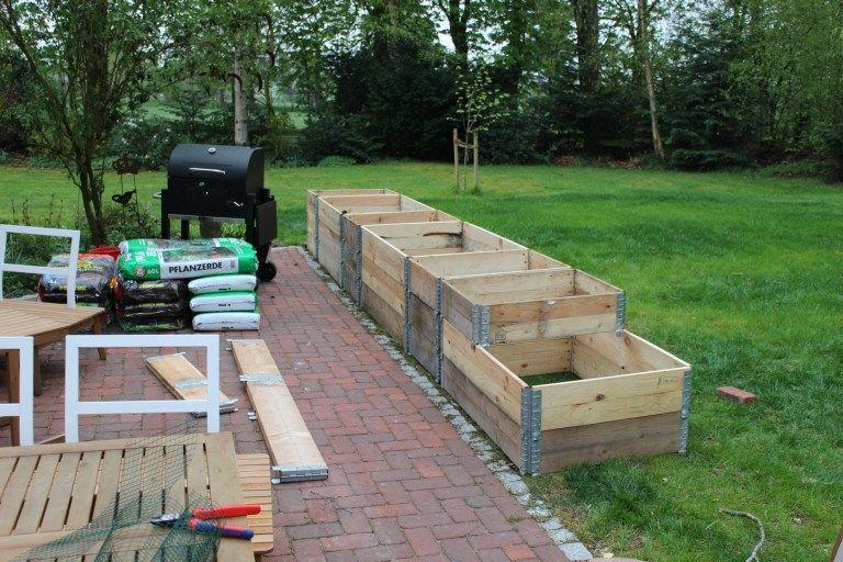 Hochbeet Rahmen Starr 120x80x40cm Hochbeet Palettenrahmen Garten Gestalten