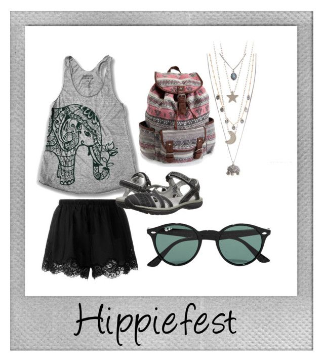 """Hippiefest"" by xstargurlx on Polyvore featuring Polaroid, Twin-Set, Keen Footwear, Aéropostale and Ray-Ban"