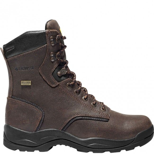 483011 LaCrosse Men's Quad Comfort 4X8 INS Safety Boots - Brown www.bootbay.com