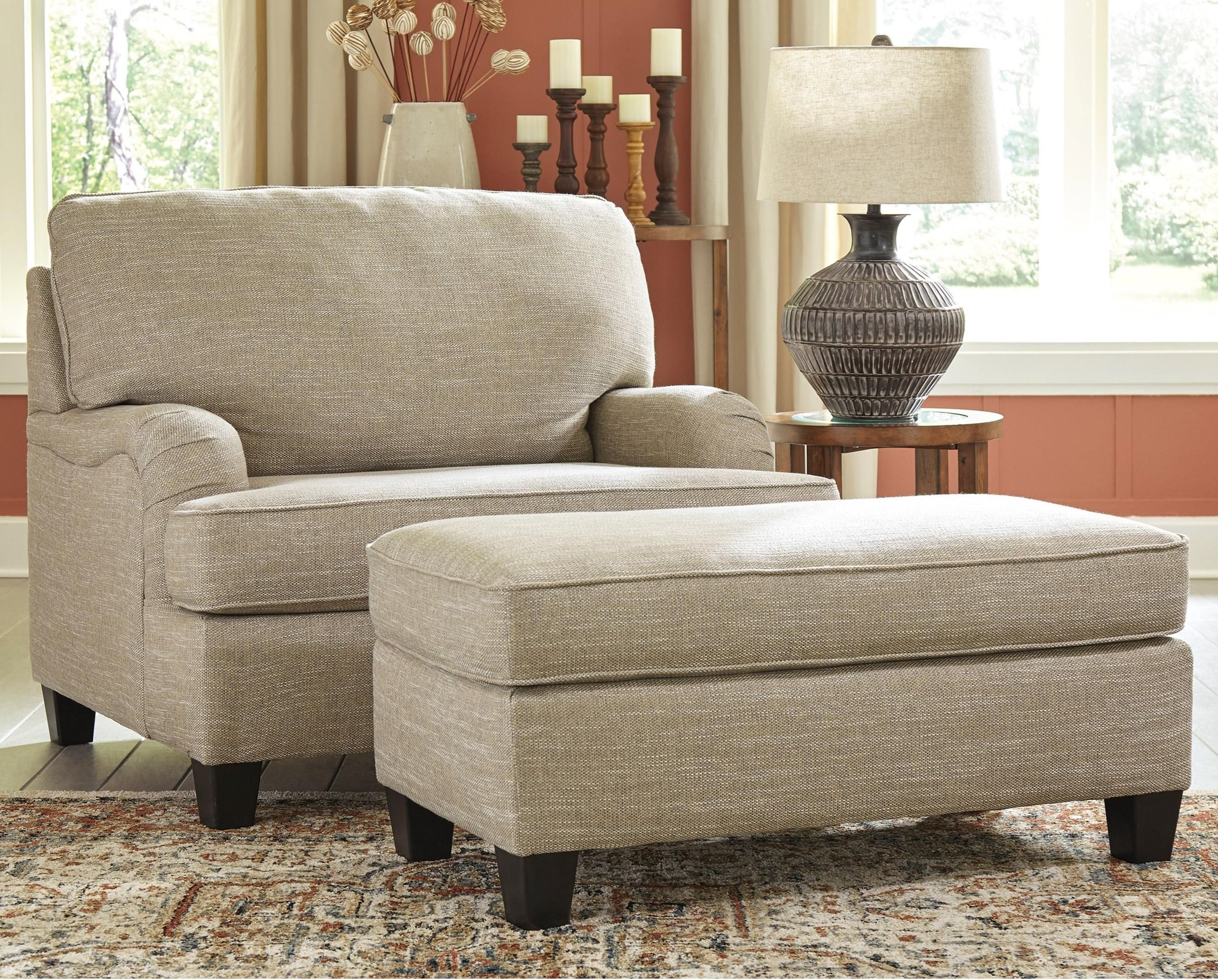 Almanza Chair And A Half And Ottoman By Signature Design At Fisher Home Furnishings In 2020 Chair And A Half Living Room Furniture Chairs Furniture