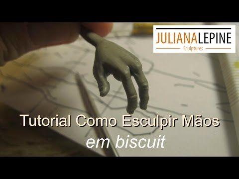 Tutorial como esculpir mãos em biscuit- parte 02 (passo a passo) - YouTube
