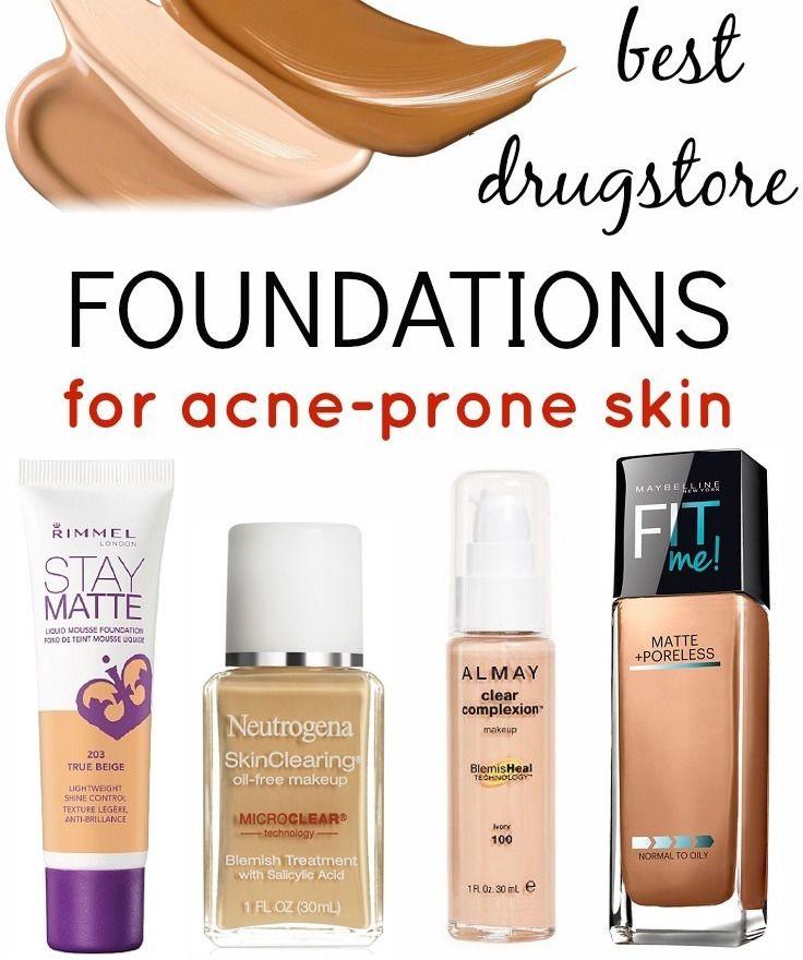 Best Drugstore Foundations for Acne-Prone Skin | Acne prone skin ...