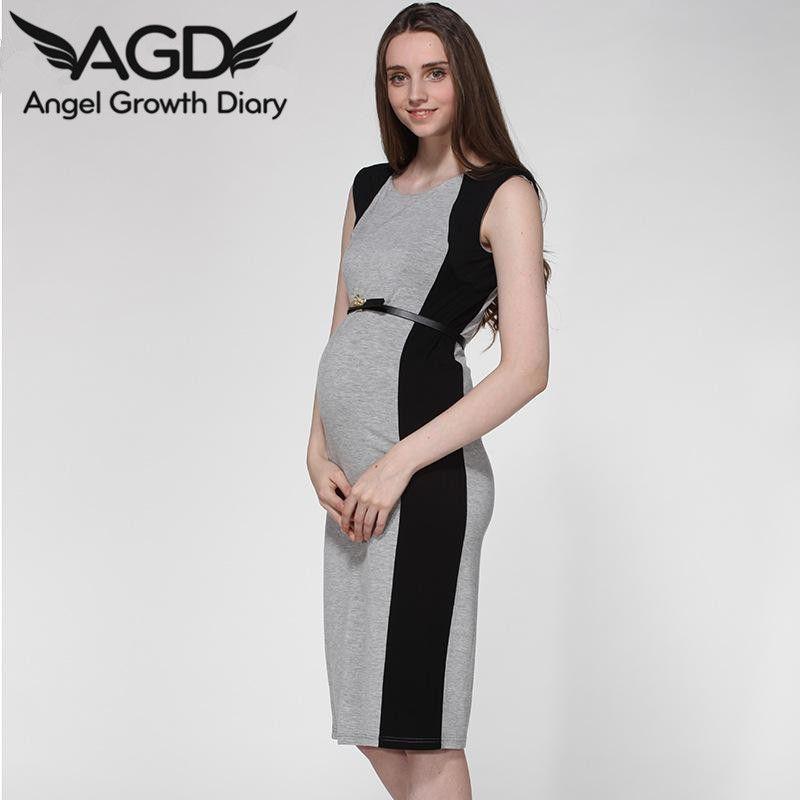 Summer Clothing Maternity Pleated Sleeveless Short Dresses Pregnant Woman Vest