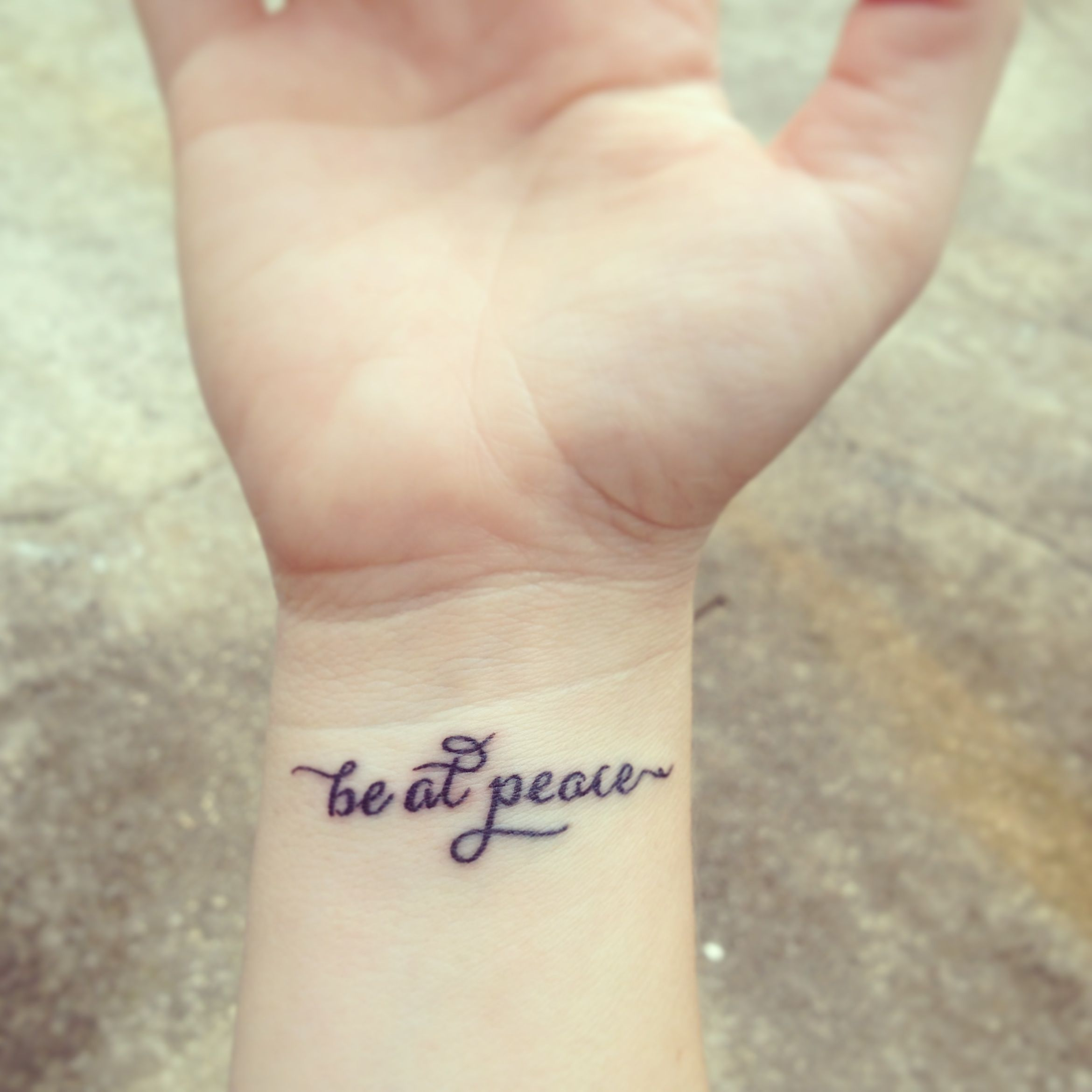 Tattoo ideas for the wrist - Dainty Lettered Wrist Tattoo Favorite Prayer