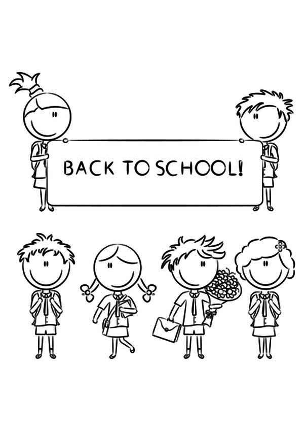 back to school coloring pages - Welcome Back To School Coloring Pages