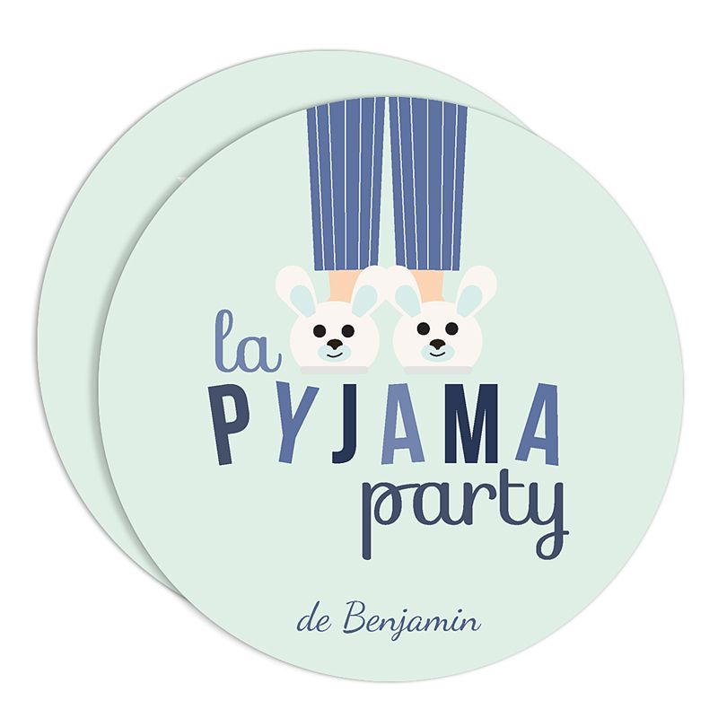 pin carte invitation pyjama party