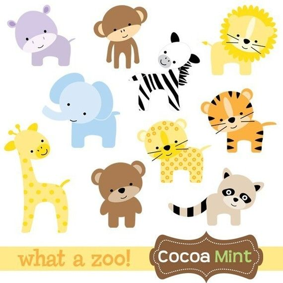 Baby Animals Baby Zoo Animals Baby Clip Art Animal Baby Shower