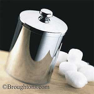 Web Image Gallery Samuel Heath Large Cotton Wool Holder Polished Chrome bathroom