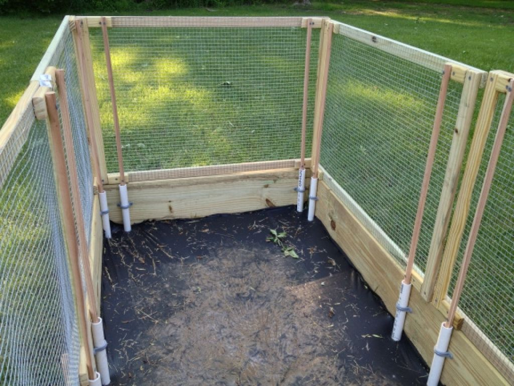 Raised Garden Bed With Removable Fence Panels Gardening
