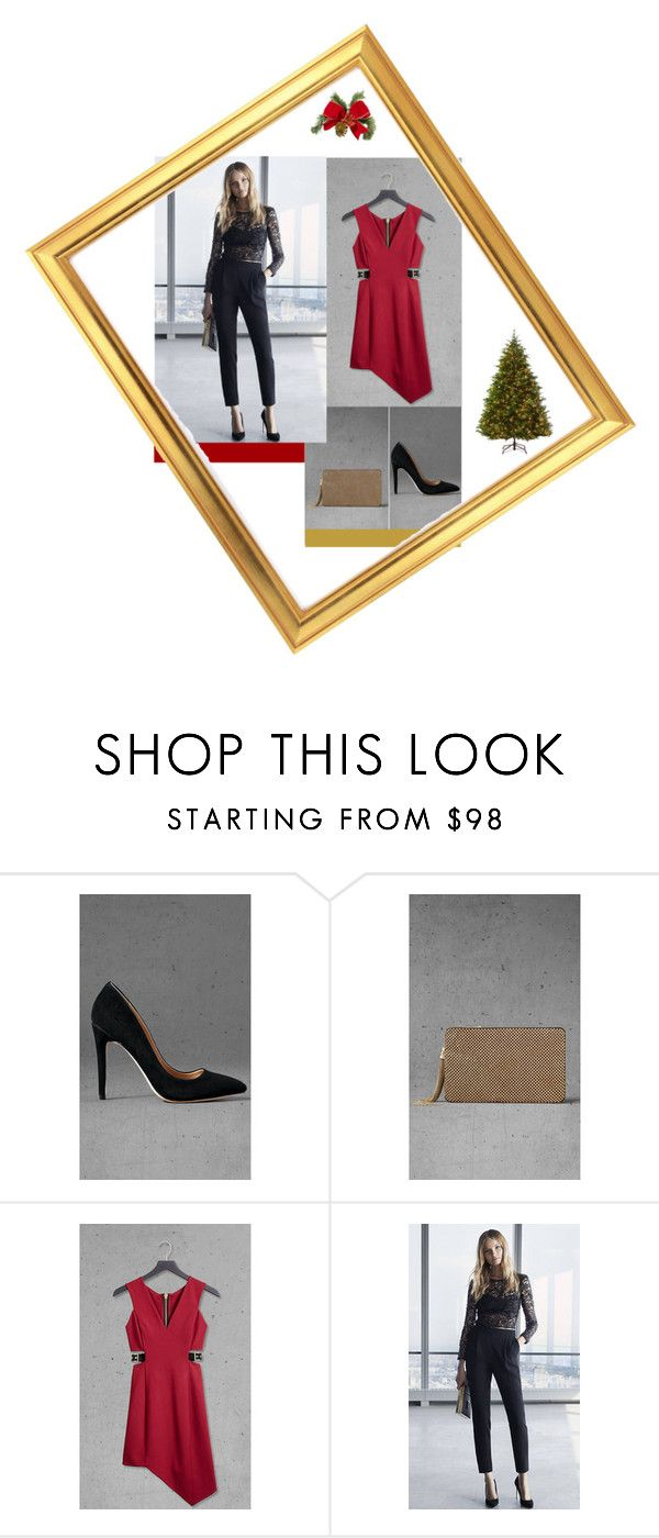 """""""Holidays with Express"""" by marinavl ❤ liked on Polyvore featuring Express, Martha Stewart, look, party, holidays, express and Christmasoutfit"""