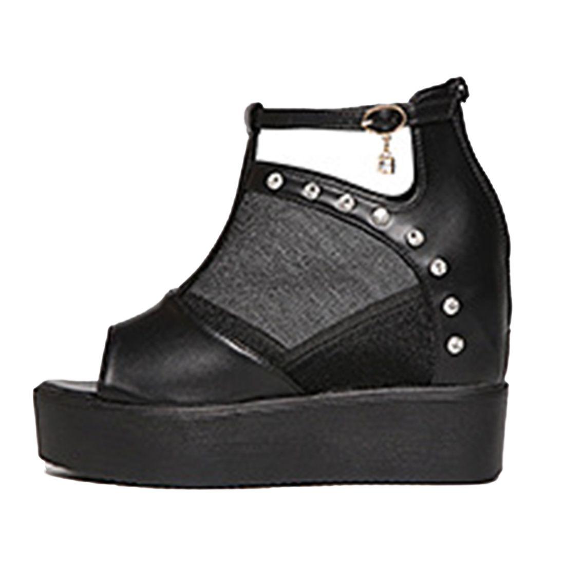 Womens sandals wedges - Womens Sandals High Heel Rhinestones Sandals Women Open Platform Shoes Ladies Wedge Heel Summer Shoes