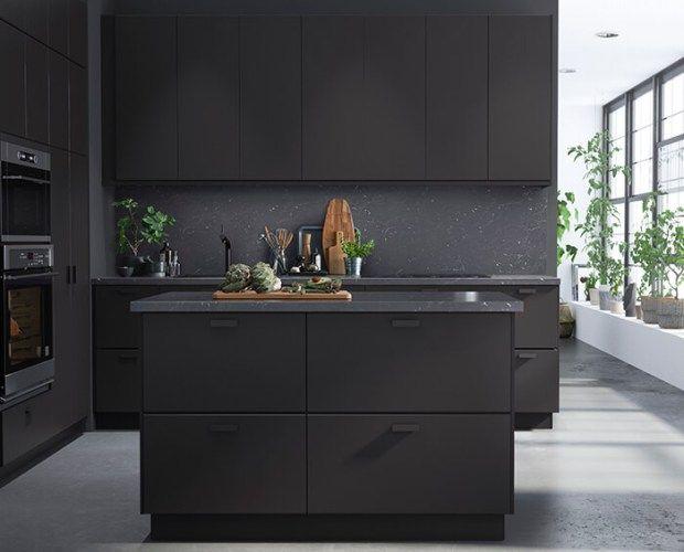 #kitchen #blackkitchen | introducing beautiful kitchen cabinets made from waste | @meccinteriors | design bites