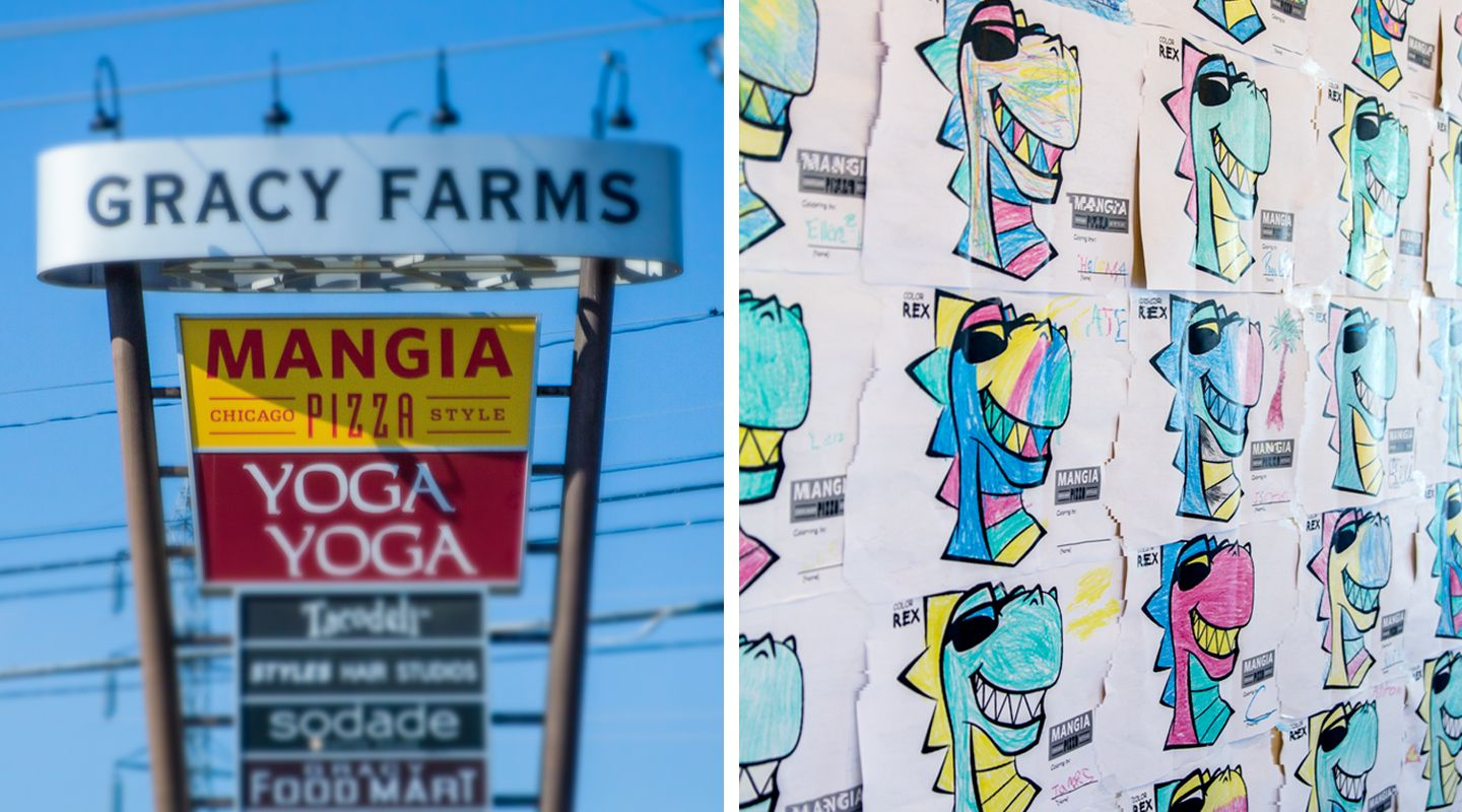 lookthinkmake Work - Mangia Pizza - On Site Signage | Our Work ...