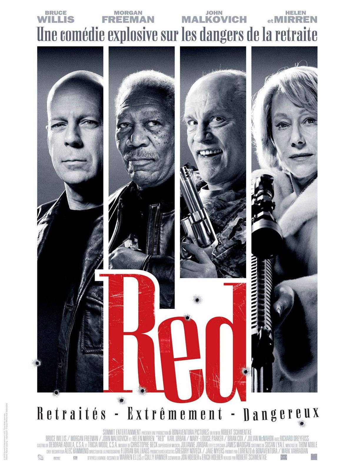 Red 2010 Movie Posters Movie Tv Funny Movies Morgan