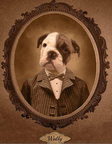Victorian Dog Portrait Dog Portraits Pet Portraits Dog Art