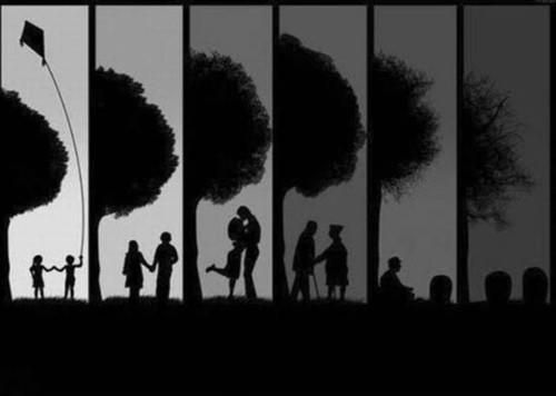 You go through life with your love one, you grow old with them due to committment.