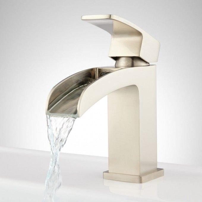 Stevens Waterfall Single Hole Bathroom Faucet