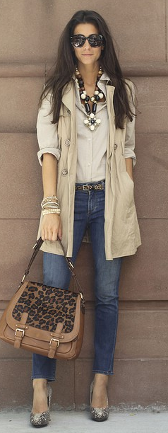 I like the long vest. I think I could find a jacket and cut the sleeves off to get this look.