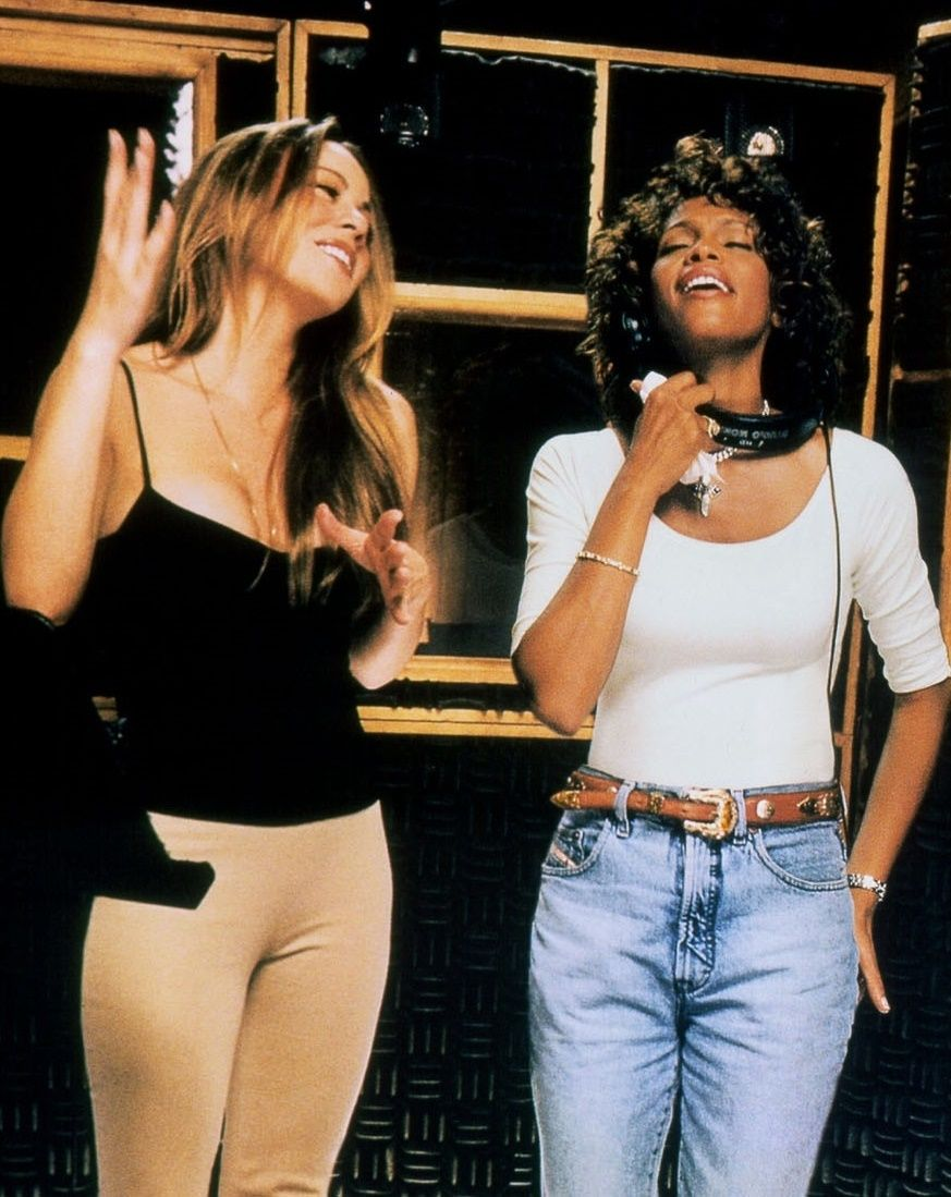 Mariah Carey Roter Teppich Mariah Carey And Whitney Houston Record When You Believe From