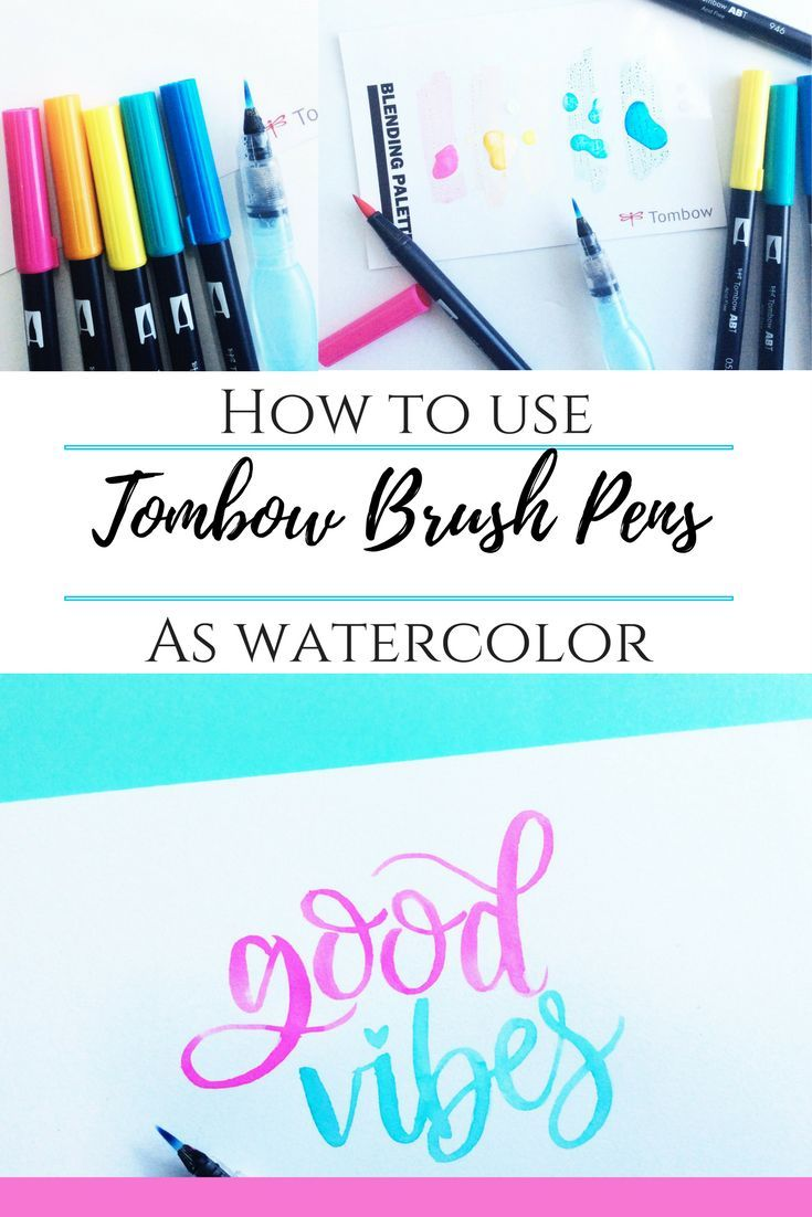 How To Use Tombow Brush Pen As Watercolor Tombow Brush Pen
