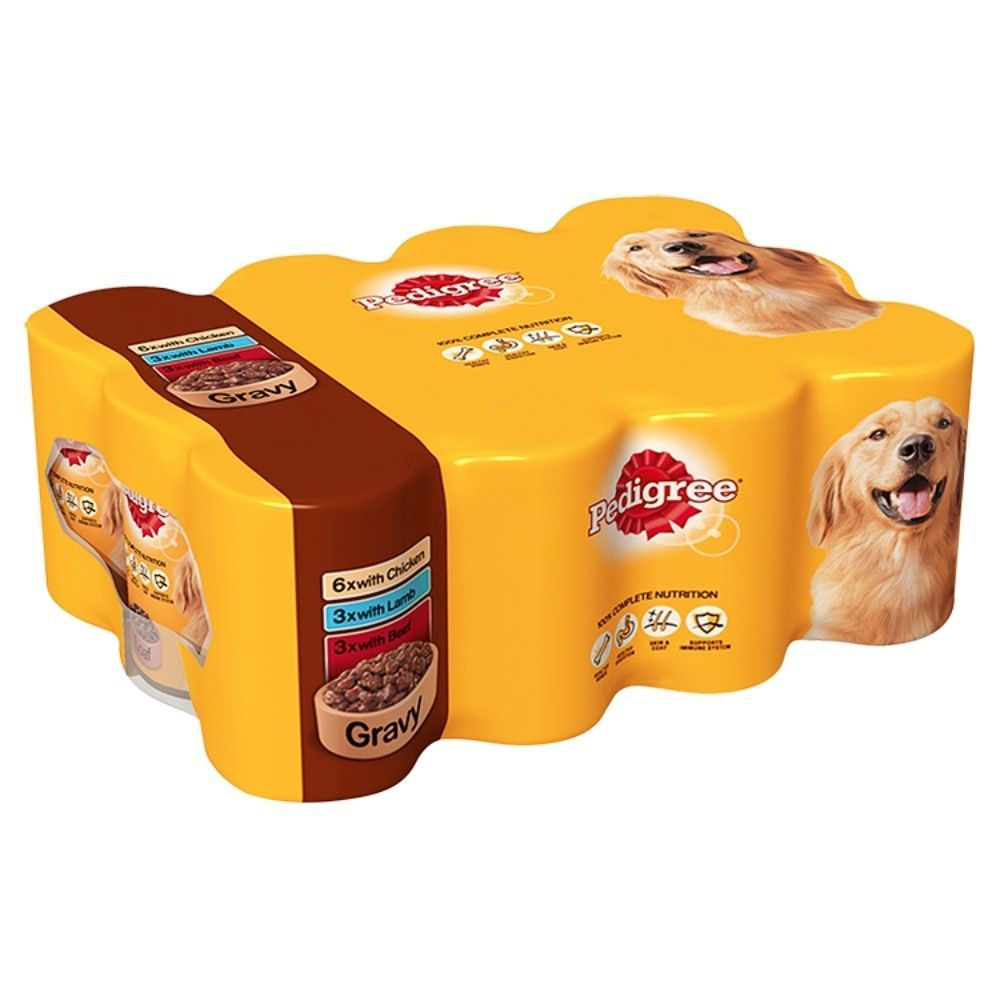 Pedigree Dog Food Tins Mixed In Gravy 24 X 400g Pedigree Dog