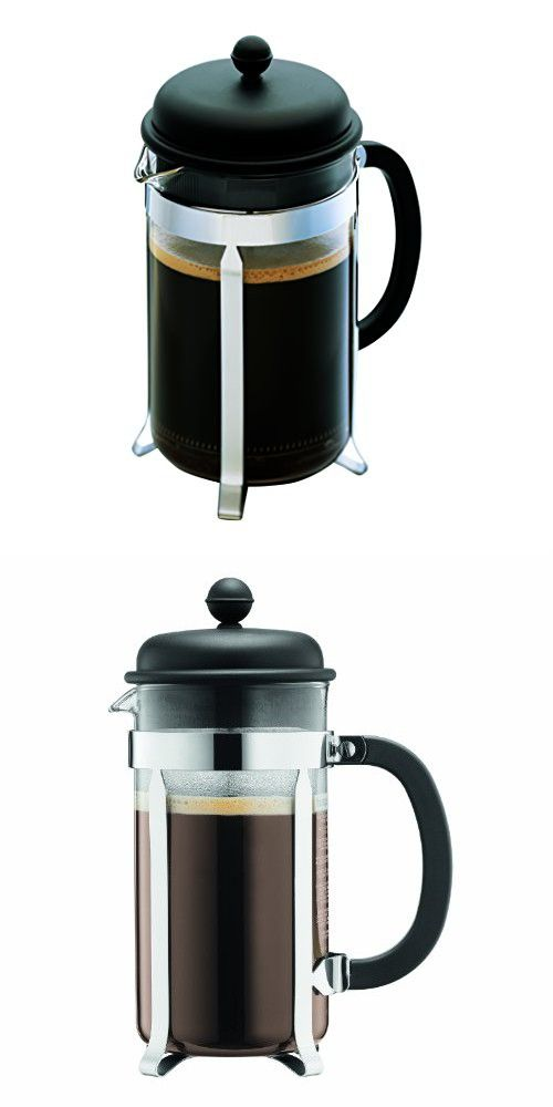Bodum Caffettiera French Press Coffee Maker Black Plastic Lid And Stainless Steel Frame 3 Cup 12 Ounce Red Tea French Press Coffee French Press Coffee Maker
