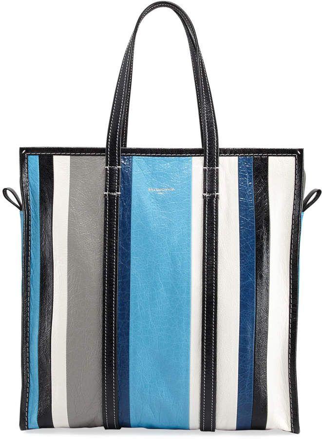 559ee9b42 Balenciaga Bazar Medium Striped Leather Shopper Tote Bag | I think I ...
